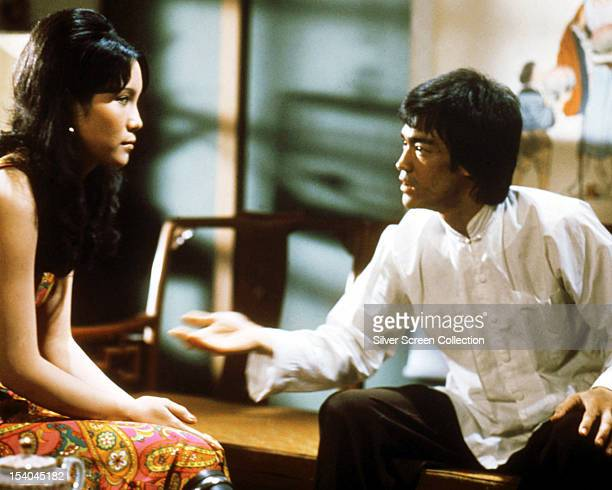 Hong Kongese actor Bruce Lee as Lee and Hungarianborn actress Ahna Capri as Tania in 'Enter the Dragon' directed by Robert Clouse 1973
