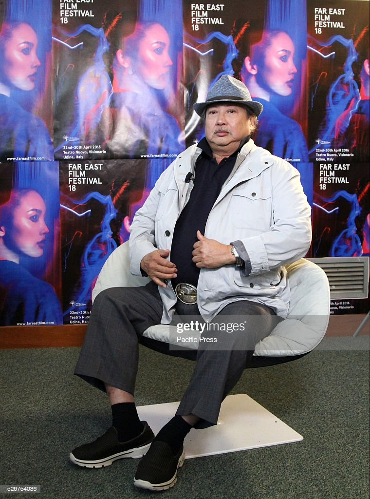 Hong Kong's Director Sammo Hung attends during the press conference of the movie The Bodyguard at Teatro Nuovo in Udine.