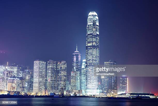 Hong Kong's Skyscrapers By Night