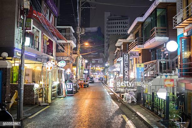 Hongdae District street in Seoul