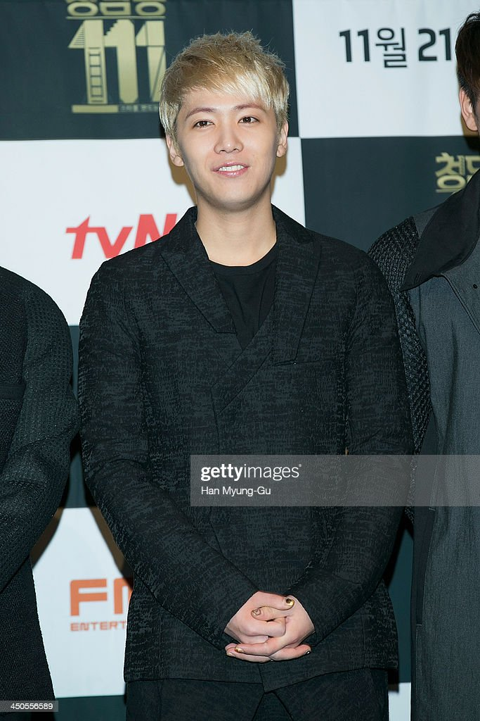 Honggi (Hong Gi) of South Korean boy band FTisland attends tvN Drama 'Cheongdamdong 111' press conference at CGV on November 18, 2013 in Seoul, South Korea. The drama will open on November 21, in South Korea.