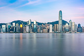 Hongkong city skyline scenery