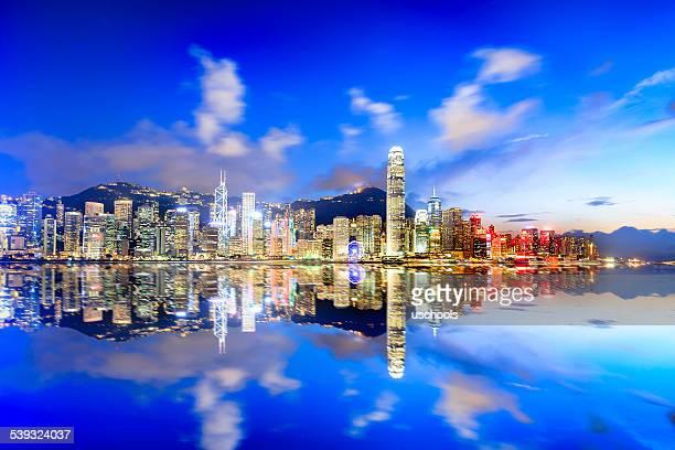 Hongkong Cityscape in Magic Hour