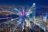 Hongkong twilight zoom