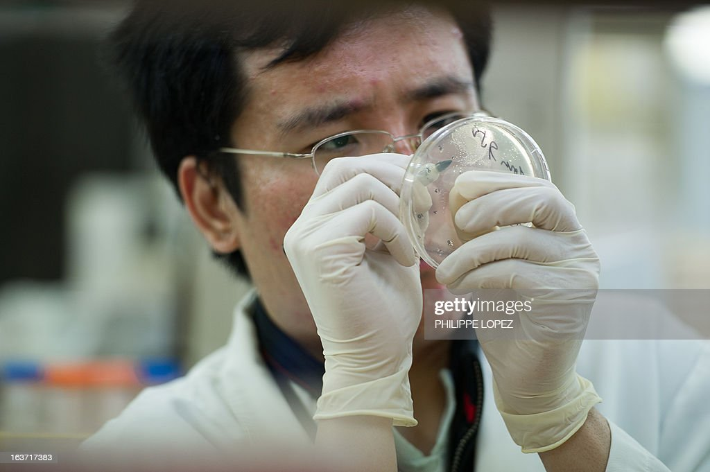 HongKong-health-disease-SARS-anniversary,FOCUS by Aaron Tam This picture taken on March 11, 2013 shows a man working at a laboratory of Hong Kong University's Department of Microbiology at Queen Mary Hospital in Hong Kong. The Severe Acute Respiratory Syndrome (SARS) outbreak killed 299 people in 2003 in the southern Chinese city, another 500 people worlwide and sparked a major health scare, but experts said the paranoia that dogged the city a decade ago has left a legacy that changed Hong Kong people's lifestyle and personal hygiene. AFP PHOTO/Philippe Lopez