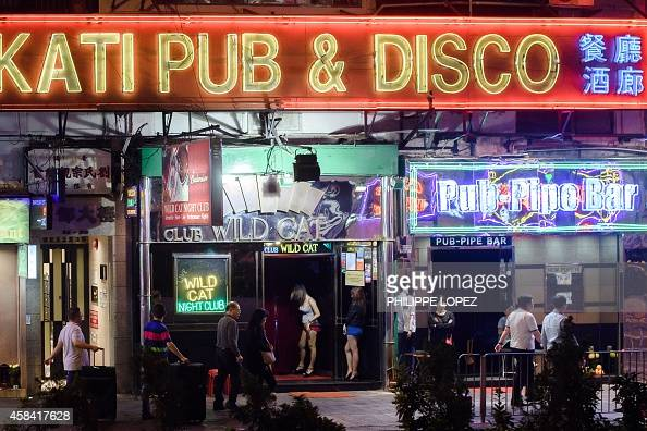 HongKongIndonesiaBritaincrimesexFOCUS by Jerome TAYLOR This picture taken on November 4 2014 shows bars in Hong Kong's Wanchai district Once a den of...