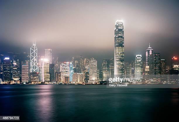 Honk Kong skyline across the harbour