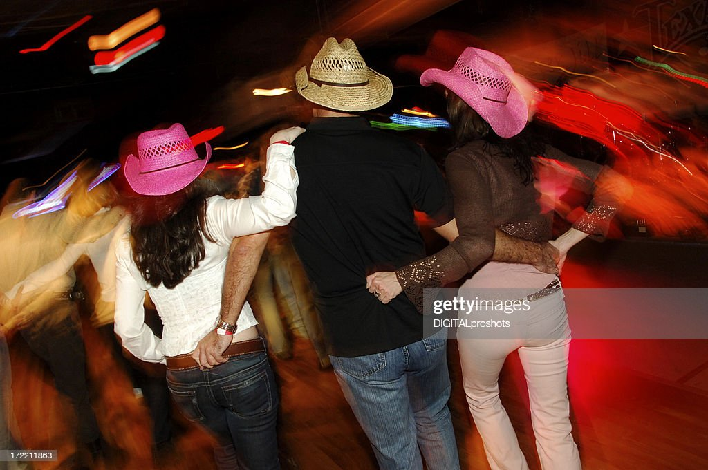 Honky Tonk Country Dancing Threesome : Stock Photo