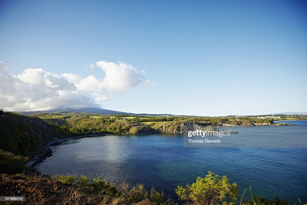Honolua bay at sunrise : Stock Photo