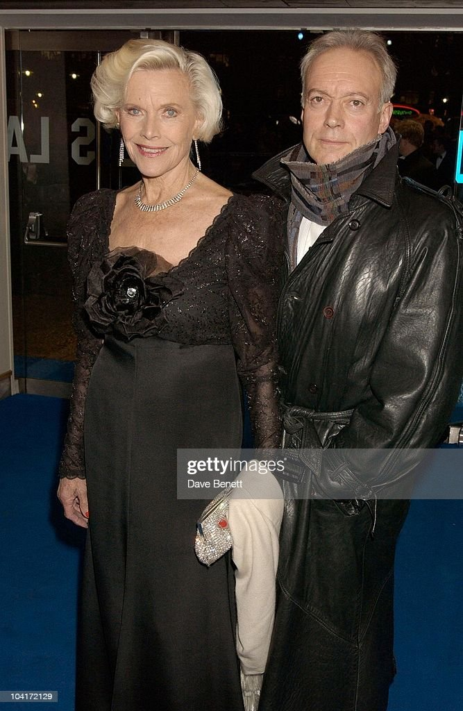 Honor Blackman And Nicholas Grace, 'Master And Commander: The Far Side Of The World' Royal Premiere At The Odeon Leicester Square, London