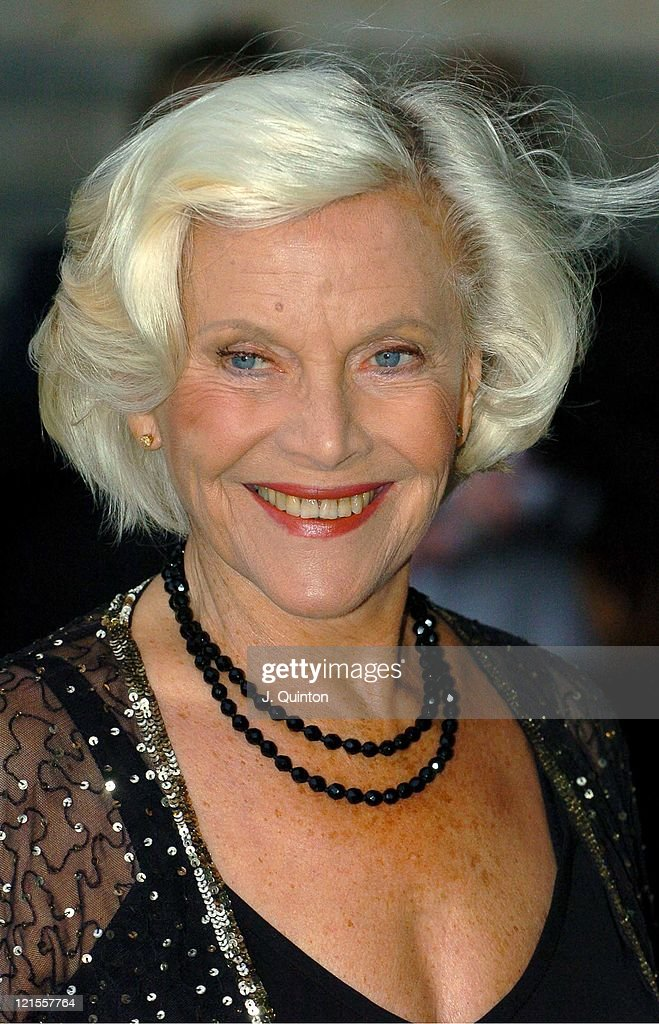 Honor Blackman during Lulu Guinness Book Launch Party for 'Put on Your Pearls, Girls!' - Arrivals at Victoria & Albert Museum in London, Great Britain.