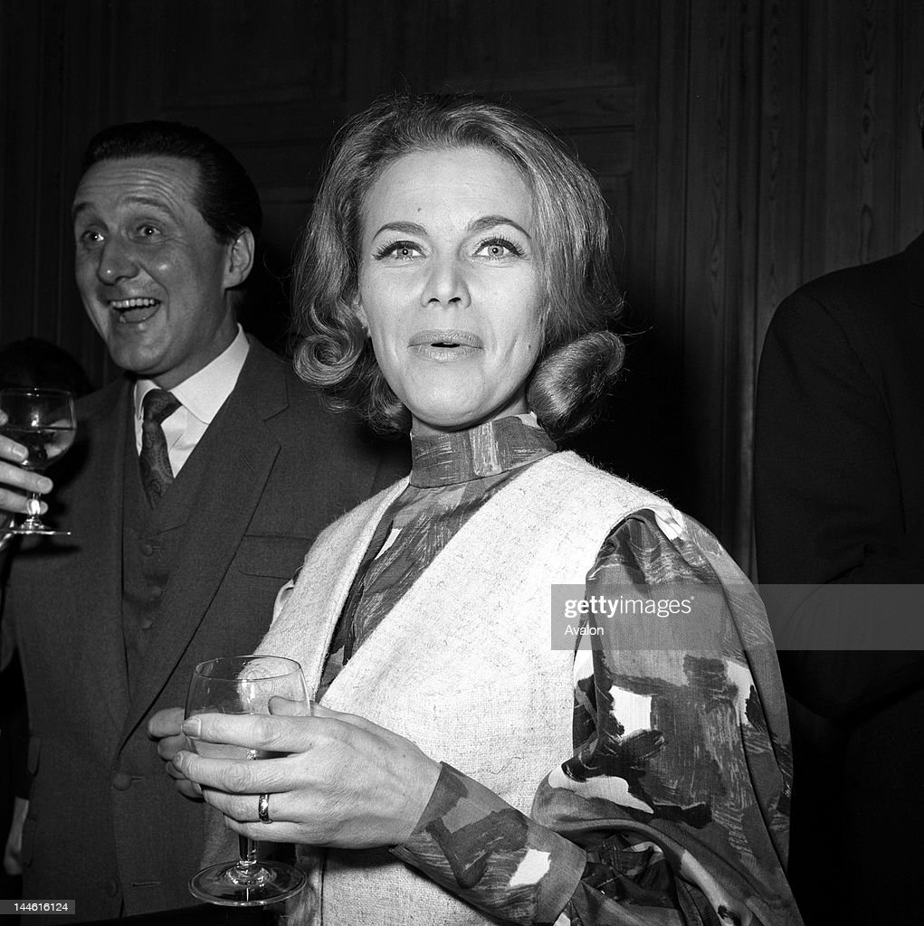 Honor Blackman (actress) in March 1964;