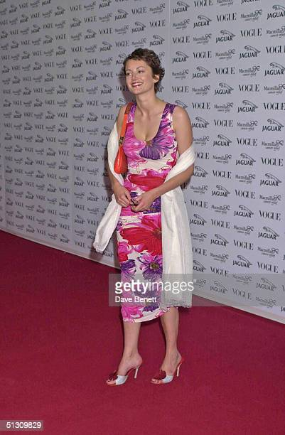 Honor Fraser attends the 'Its Fashion' Gala Evening in aid of Macmillan Cancer Relief hosted by Jaguar and Vogue on June 11 2001 in London