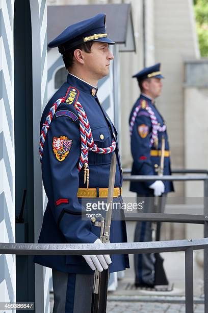 Honor guard at the entrance to Prague Castle