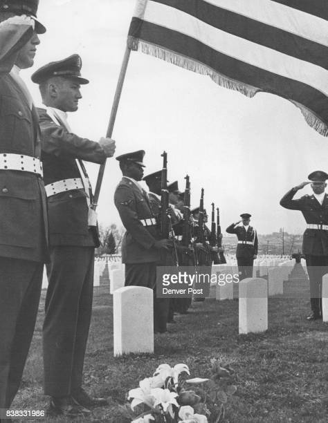 Honor Guard from Lowry Air Force Base Performs Traditional Ceremony The Air Force squad is at grave site of fallen warrior at Fort Logan National...
