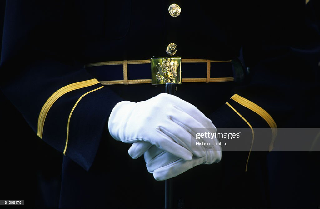 Honor Guard Holding Rifle, Arlington National Ceme : Stock Photo