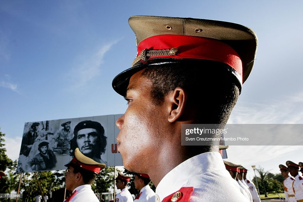 Honor guards attend a commemoration of the 40th anniversary of the death of Ernesto Che Guevara October 8, 2007 in Santa Clara, Cuba. Guevara was killed October 8, 2007 in Bolivia after being captured by CIA backed Bolivian soldiers.