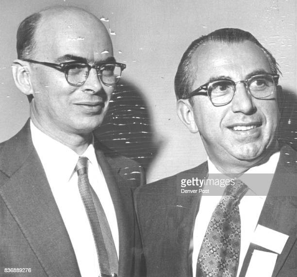 Honor Jewish Service Robert S McCollum deputy director of refugee affairs US State Department and Dr Alfred M Neumann executive director of Jewish...