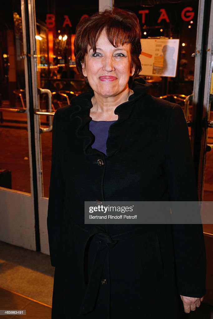 Honor President of the Evening, Roselyne bachelot Narquin attends 'Un Temps De Chien' - Theater Gala Premiere to Benefit ARSEP Foundation. Held at Theatre Montparnasse on January 30, 2014 in Paris, France.