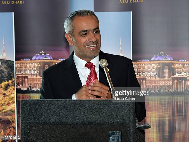 Honorable Consul General of The United Arab Emirates Abdulla Alsaboosi speaks at the launch event of Etihad Airways' daily service from Los Angeles...