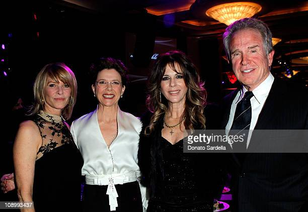 Honorary Chair Kate Capshaw actress Annette Bening Honorary Chair Rita Wilson and actor/filmmaker Warren Beatty arrive at the 14th annual...