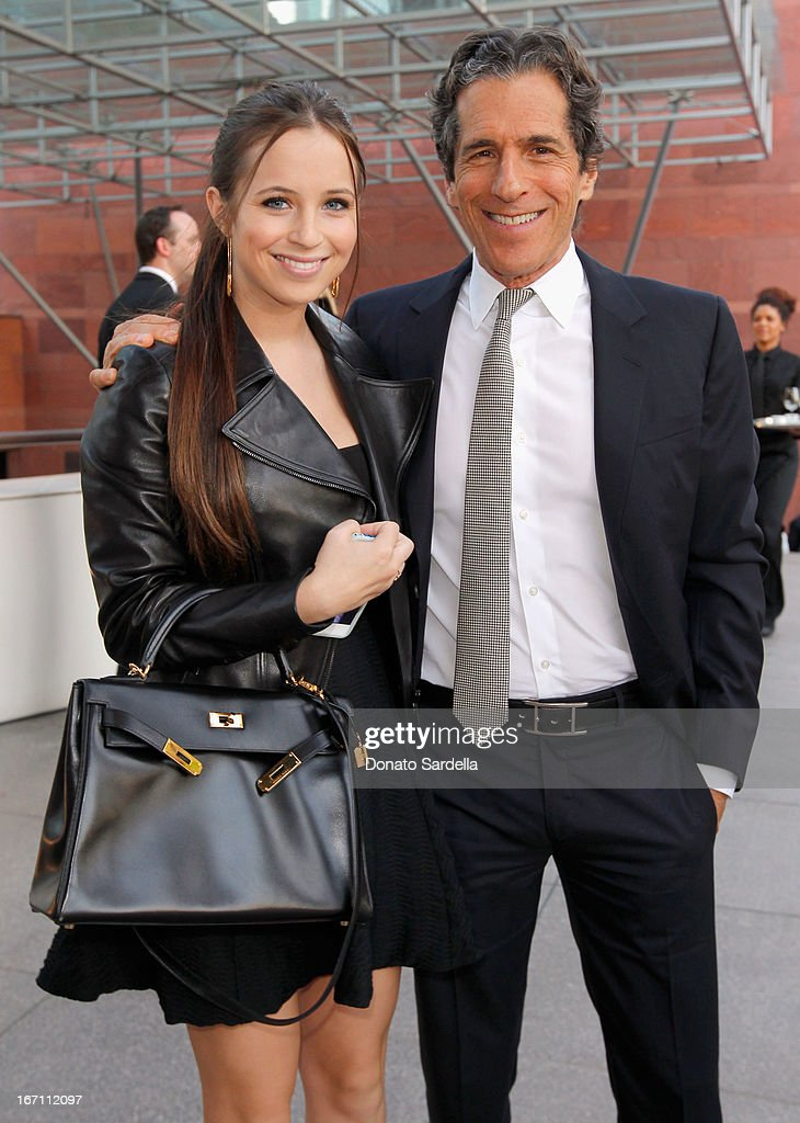 """Honorary Chair Peter Morton (R) and guest attend """"Yesssss!"""" MOCA Gala 2013, Celebrating the Opening of the Exhibition Urs Fischer, at MOCA Grand Avenue and The Geffen Contemporary on April 20, 2013 in Los Angeles, California."""