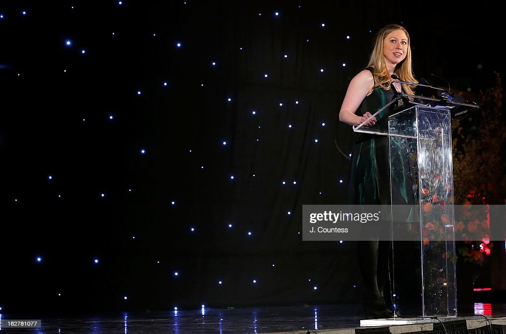 Honorary chairperson for the Dance Theatre Of Harlem Chelsea Clinton speaks during the Dance Theatre Of Harlem's 44th Anniversary Celebration at Mandarin Oriental Hotel on February 26, 2013 in New York City.
