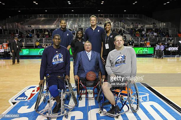 Honorary Coaches of the West team NBA Legend Robert Horry and Marie FerdinandHarris of the Phoenix Mercury Honorary Coaches of the East team NBA...