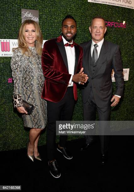 Honorary CoChairs Rita Wilson and Tom Hanks and singer Jason Derulo attend WCRF's 'An Unforgettable Evening' presented by Saks Fifth Avenue at the...