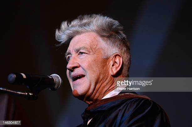 Honorary degree recipient David Lynch at the 2012 AFI Conservatory Commencement Ceremony at Grauman's Chinese Theatre on June 13 2012 in Hollywood...