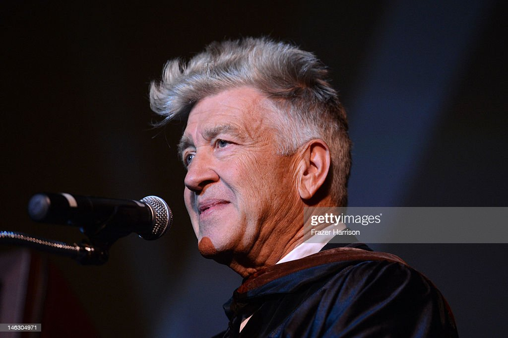 Honorary degree recipient, director <a gi-track='captionPersonalityLinkClicked' href=/galleries/search?phrase=David+Lynch&family=editorial&specificpeople=224589 ng-click='$event.stopPropagation()'>David Lynch</a> at the 2012 AFI Conservatory Commencement Ceremony at Grauman's Chinese Theatre on June 13, 2012 in Hollywood, California.