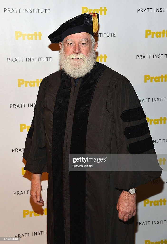 Honorary Degree Recipient James Turrell attends Pratt Institute 126th Commencement Ceremony at The Theater at Madison Square Garden on May 15 2015 in...