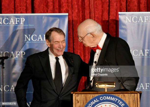 Honorary Gala CoChairman Former Chairman of the Board of Governors of the Federal Reserve System Paul A Volcker and Charlie Rose speak onstage at the...