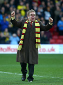 Honorary Life President Sir Elton John in attendance for the unveiling of 'The Sir Elton John stand' during the Sky Bet Championship match between...