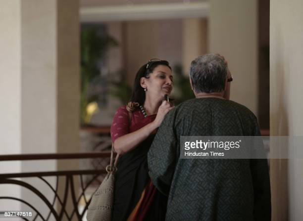 Honorary poet Javed Akhtar and actress Shabana Azmi paint live for Kushii at JWMarriott