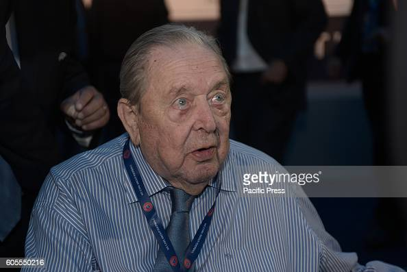 LAGONISI ATHENS ATTIKI GREECE Honorary President Lennart Johansson during the 12th Extraordinary Uefa Congress in 14 of September in Athens The UEFA...