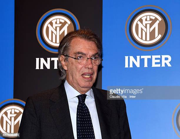 Honorary President Massimo Moratti during FC Internazionale Milano Shareholders' Meeting on October 20 2014 in Milan Italy