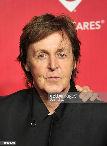 Honore Sir Paul Mcartney arrives at the 2012 MusiCares Person of the Year Tribute to Paul McCartney held at the Los Angeles Convention Center on...