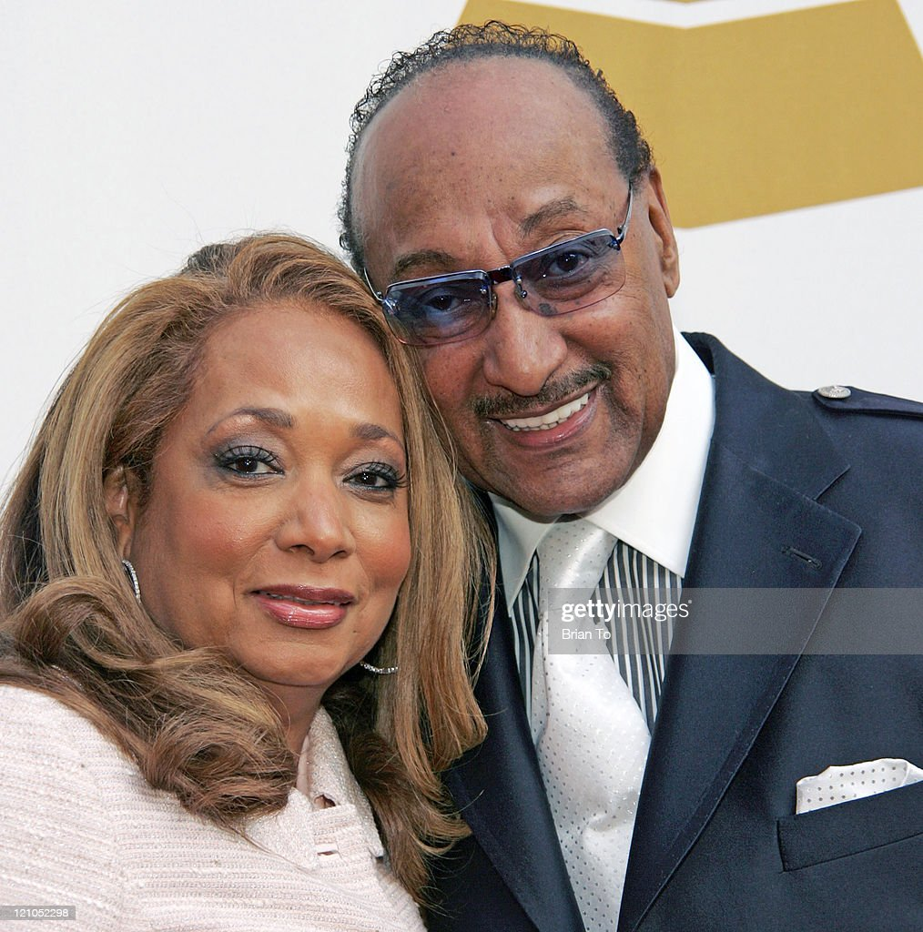 Honoree Abdul 'Duke' Fakir of the Four Tops (R) and wife Piper Fakir arrive at The Recording Academy's Special Merit Awards Ceremony at Wilshire Ebell Theater on February 7, 2009 in Los Angeles, California.