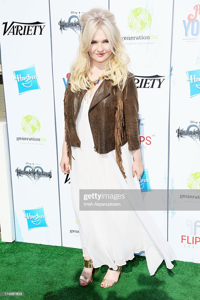 Honoree <a gi-track='captionPersonalityLinkClicked' href=/galleries/search?phrase=Abigail+Breslin&family=editorial&specificpeople=226628 ng-click='$event.stopPropagation()'>Abigail Breslin</a> attends Variety's Power of Youth presented by Hasbro, Inc. and generationOn at Universal Studios Backlot on July 27, 2013 in Universal City, California.