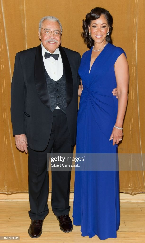Honoree Actor James Earl Jones and Marian Anderson Board Chair Pamela Browner White attend the 2012 Marian Anderson awards gala at Kimmel Center for the Performing Arts on November 19, 2012 in Philadelphia, Pennsylvania.