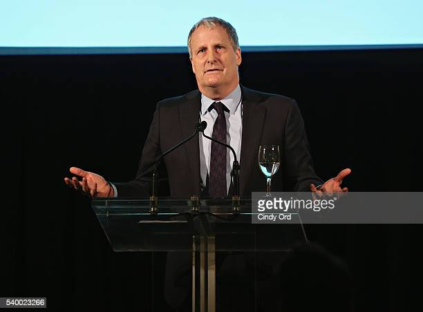 Honoree/ actor Jeff Daniels speaks during the Stella By Starlight 11th Annual Fundraising Gala at Prince George Ballroom on June 13 2016 in New York...