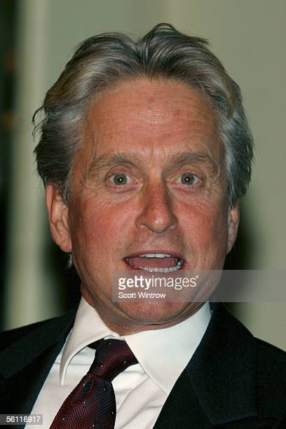 Honoree actor Michael Douglas speaks at The Brady Center To Prevent Gun Violence Benefit Reception at Cipriani's 23rd on November 7 2005 in New York...