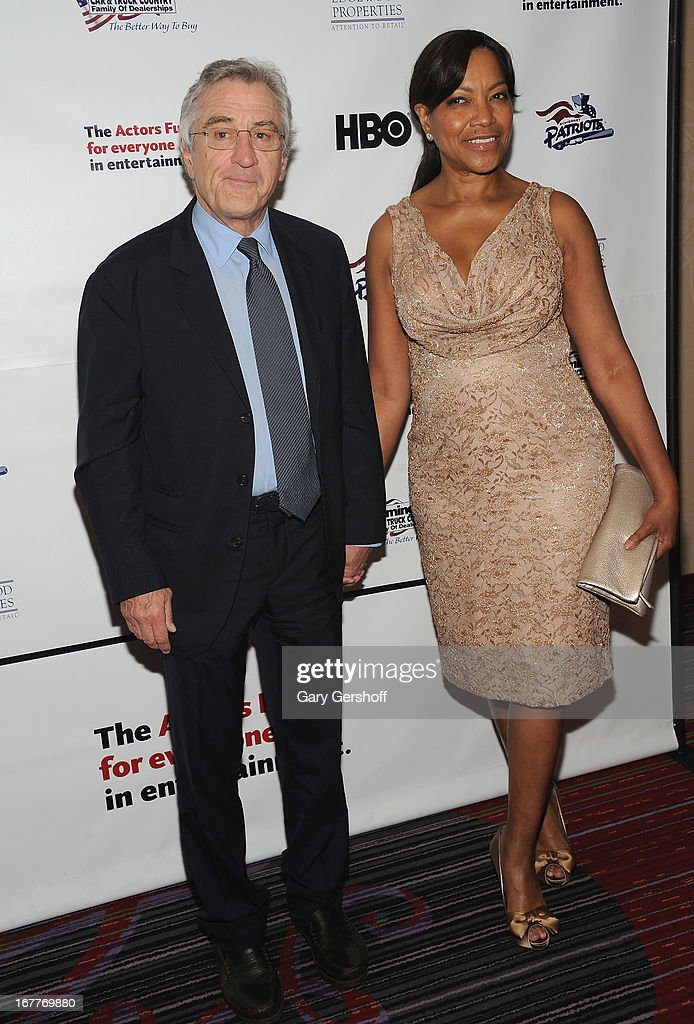 Honoree, actor Robert De Niro and wife Grace Hightower attend the 2013 Actors Fund Gala at the Marriott Marquis Hotel on April 29, 2013 in New York City.