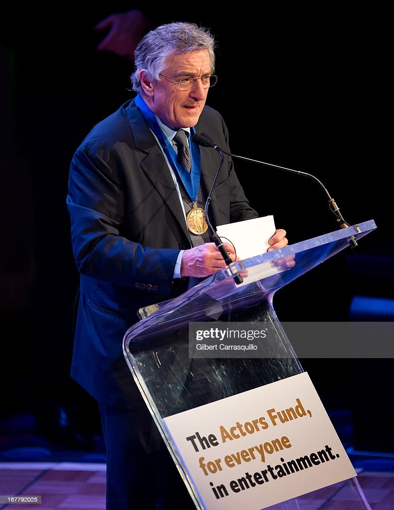 Honoree, actor Robert De Niro attends the 2013 Actors Fund's Annual Gala Honoring Robert De Niro at The New York Marriott Marquis on April 29, 2013 in New York City.