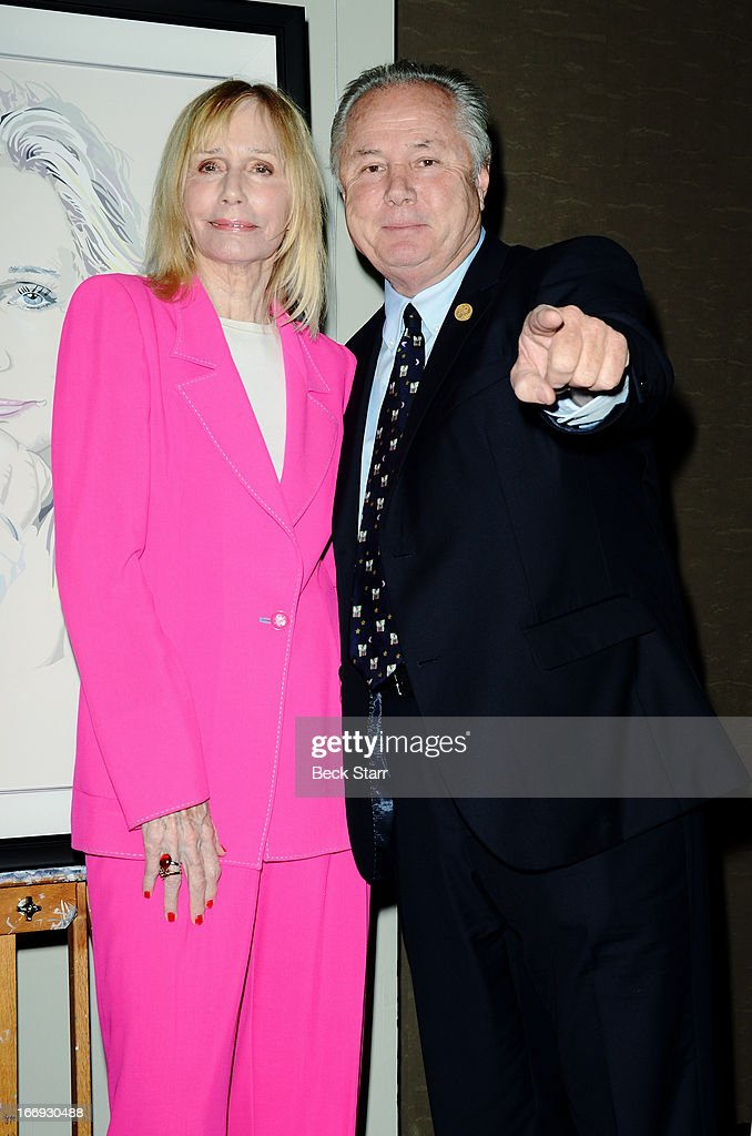 Honoree actress <a gi-track='captionPersonalityLinkClicked' href=/galleries/search?phrase=Sally+Kellerman&family=editorial&specificpeople=207185 ng-click='$event.stopPropagation()'>Sally Kellerman</a> and politician <a gi-track='captionPersonalityLinkClicked' href=/galleries/search?phrase=Tom+LaBonge&family=editorial&specificpeople=220711 ng-click='$event.stopPropagation()'>Tom LaBonge</a> attend The Hollywood Chamber Of Commerce 92nd Annual Installation & Lifetime Achievement Awards luncheon at Sheraton Universal on April 18, 2013 in Universal City, California.
