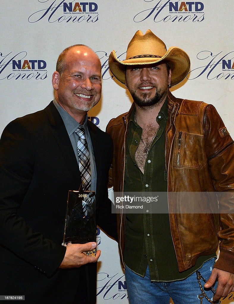 Honoree Agent BLA Kevin Neal and Singer/Songwriter <a gi-track='captionPersonalityLinkClicked' href=/galleries/search?phrase=Jason+Aldean&family=editorial&specificpeople=619221 ng-click='$event.stopPropagation()'>Jason Aldean</a> attend the 3rd. annual NATD Honors 2013 at the Hermitage Hotel on November 12, 2013 in Nashville, Tennessee.