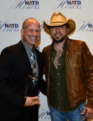 Honoree Agent BLA Kevin Neal and Singer/Songwriter Jason Aldean attend the 3rd annual NATD Honors 2013 at the Hermitage Hotel on November 12 2013 in...