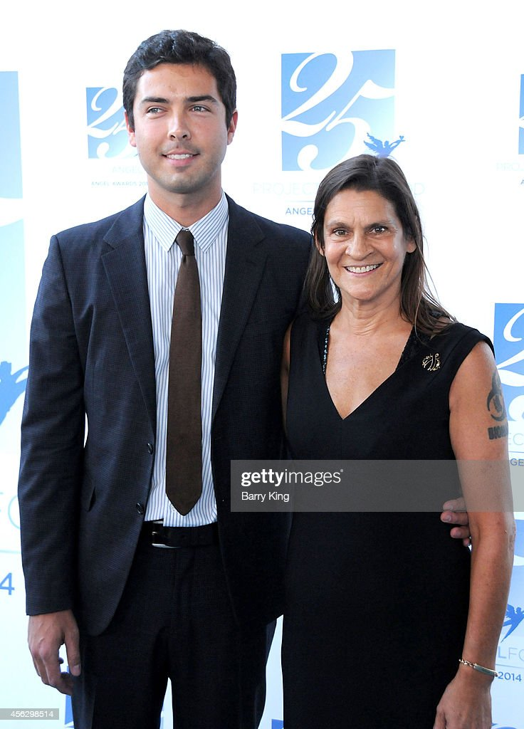 Honoree Aileen Getty and guest arrive for Project Angel Food Celebrates 25 Years With 2014 Angel Awards at Project Angel Food on September 6 2014 in...