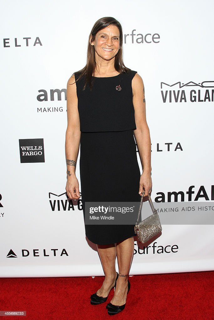 Honoree Aileen Getty attends the 2013 amfAR Inspiration Gala Los Angeles at Milk Studios on December 12, 2013 in Los Angeles, California.